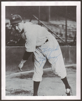 Lefty Gomez Autographed New York Yankees 8x10 Baseball Photo