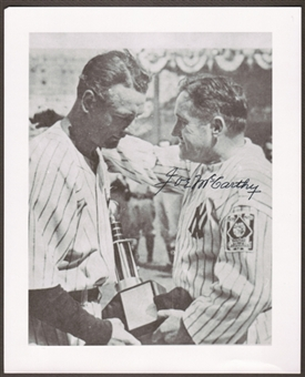 Joe McCarthy Autographed New York Yankees 8x10 Baseball Photo w/Gehrig