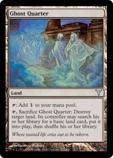 Magic the Gathering Dissension Single Ghost Quarter - SLIGHT PLAY (SP)