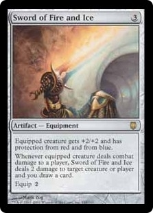 Magic the Gathering Darksteel Single Sword of Fire and Ice LIGHT PLAY (NM)