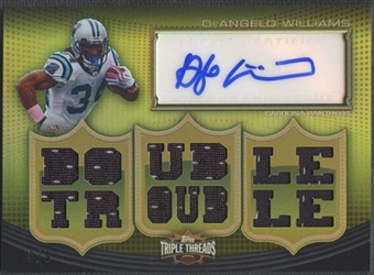 2010 Topps Triple Threads #TTRA104 DeAngelo Williams Gold Jersey Auto #6/9