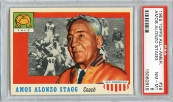 1955 Topps All American Football #38 Amos Alonzo Stagg PSA 8 (NM-MT) *0619