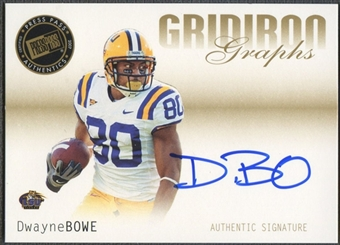 2007 Press Pass SE #GGDB Dwayne Bowe Gridiron Graphs Gold Auto