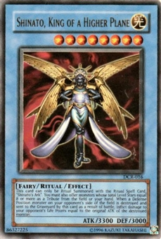 Yu-Gi-Oh Dark Crisis Single Shinato, King of Higher Plane Ultra Rare (DCR-016) - SLIGHT PLAY (SP)