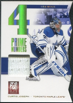 2011/12 Panini Elite Prime Number Jerseys #8 Curtis Joseph* /400