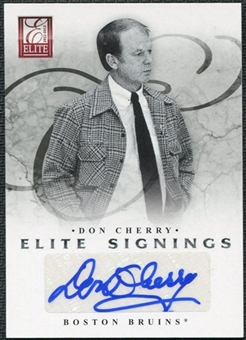 2011/12 Panini Elite Signings #80 Don Cherry SP Autograph