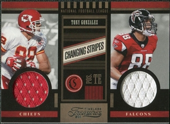 2011 Panini Timeless Treasures Changing Stripes #31 Tony Gonzalez /249