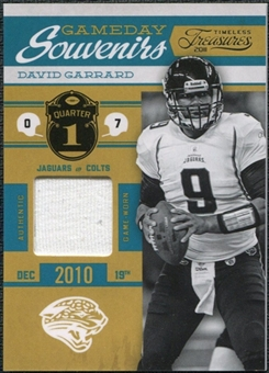 2011 Panini Timeless Treasures Game Day Souvenirs 1st Quarter #17 David Garrard /185