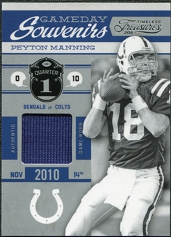 2011 Panini Timeless Treasures Game Day Souvenirs 1st Quarter #27 Peyton Manning /250