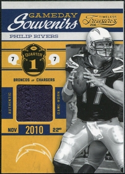 2011 Panini Timeless Treasures Game Day Souvenirs 1st Quarter #28 Philip Rivers /75