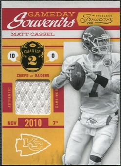 2011 Panini Timeless Treasures Game Day Souvenirs 2nd Quarter #20 Matt Cassel /250