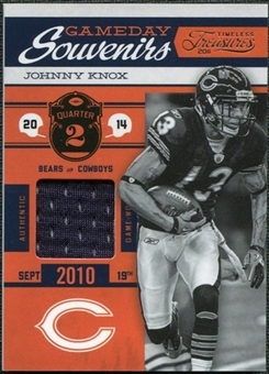 2011 Timeless Treasures Game Day Souvenirs 2nd Quarter #26 Johnny Knox /50