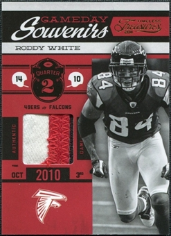 2011 Panini Timeless Treasures Game Day Souvenirs 2nd Quarter Prime #8 Roddy White /25