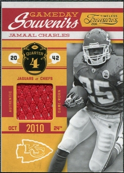 2011 Panini Timeless Treasures Game Day Souvenirs 4th Quarter #21 Jamaal Charles /165