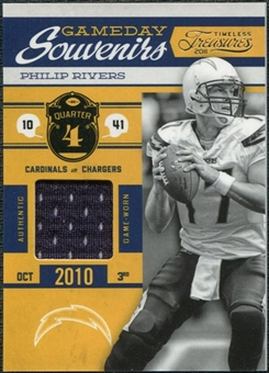 2011 Panini Timeless Treasures Game Day Souvenirs 4th Quarter #23 Philip Rivers /190