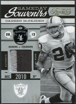 2011 Panini Timeless Treasures Game Day Souvenirs 4th Quarter Prime #22 Darren McFadden /25
