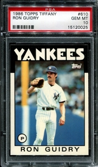 1986 Topps Tiffany Baseball #610 Ron Guidry PSA 10 (GEM MT) *0025