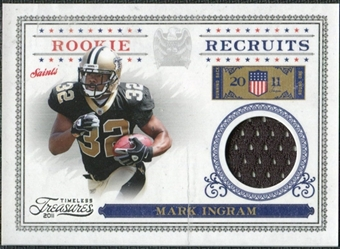 2011 Panini Timeless Treasures Rookie Recruits Materials #21 Mark Ingram /250