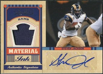 2011 Timeless Treasures Material Ink Jerseys #12 Steven Jackson Autograph /15