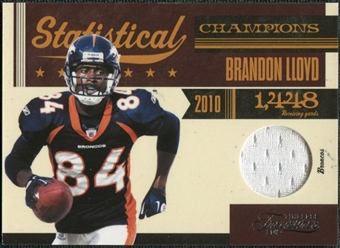 2011 Panini Timeless Treasures Statistical Champions Materials #24 Brandon Lloyd /100