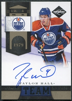 2011/12 Panini Limited Team Trademarks Signatures #1 Taylor Hall Autograph 86/99