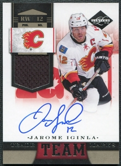 2011/12 Panini Limited Team Trademarks Materials Signatures #8 Jarome Iginla Autograph /49