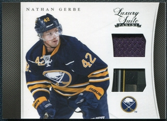 2011/12 Panini Luxury Suite #4 Nathan Gerbe Stick Jersey