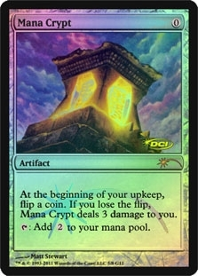 Magic the Gathering Promo Single Mana Crypt Foil (DCI) - NEAR MINT (NM)