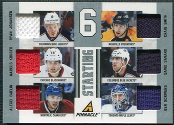 2011/12 Pinnacle 6 Jersey #35 Ryan Johansen Craig Smith Marcus Kruger David Savard Alexei Emelin Ben Scrivens