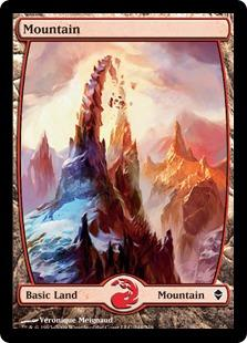 Magic the Gathering Zendikar Single Mountain (#244) FOIL Extended Art - NEAR MINT (NM)