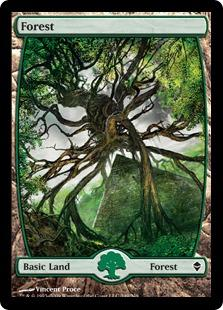 Magic the Gathering Zendikar Single Forest (#249) Extended Art - NEAR MINT (NM)