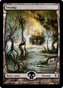 Magic the Gathering Zendikar Single Swamp (#240) Extended Art - NEAR MINT (NM)