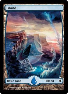 Magic the Gathering Zendikar Single Island (#236) Extended Art - NEAR MINT (NM)
