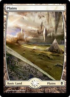 Magic the Gathering Zendikar Single Plains (#233) Extended Art - NEAR MINT (NM)