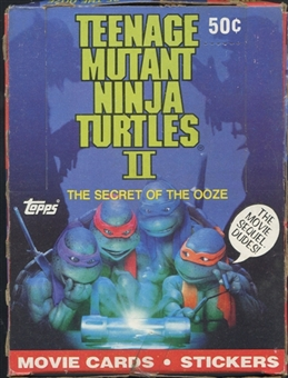 Teenage Mutant Ninja Turtles Movie 2 The Secret of The Ooze Wax Box (1991 Topps)
