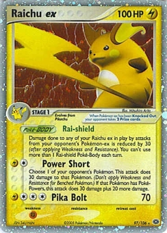 Pokemon Emerald Single Raichu ex 97/106