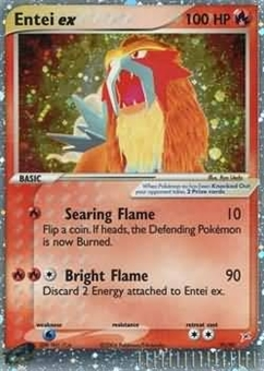 Pokemon Team Aqua Team Magma Single Entei ex 91/95