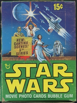 Star Wars 5th Series Wax Box (1977-78 Topps) (In Series 4 Box)