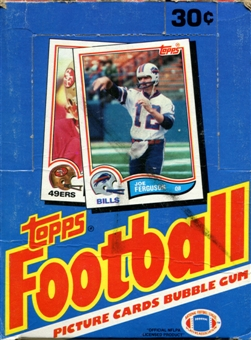 1982 Topps Football Wax Box