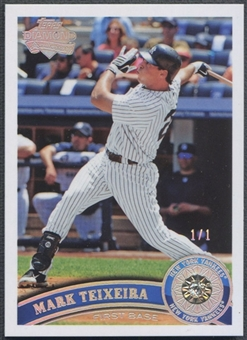 2011 Topps #450 Mark Teixeira Diamond Anniversary Authentic Diamond #1/1