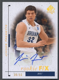 2011/12 SP Authentic #87 Jimmer Fredette FX Rookie Auto #30/50