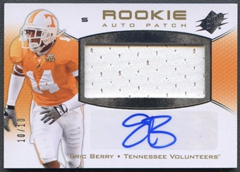 2010 SPx #116 Eric Berry Silver Rookie Patch Auto #10/10