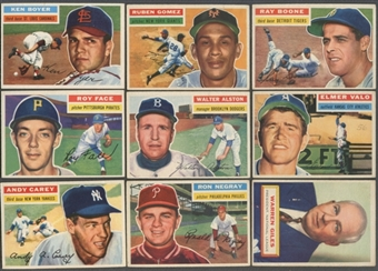 1956 Topps Baseball Starter Set (167 Different) EX+