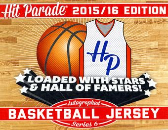2015/16 Hit Parade Autographed Basketball Jersey Hobby Box - Series 6   Karl Malone and Klay Thompson!!!