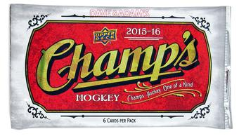 2015/16 Upper Deck Champ's Hockey Hobby Pack