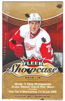 2015/16 Upper Deck Fleer Showcase Hockey Hobby Box