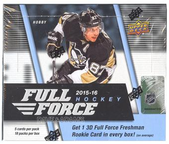 2015/16 Upper Deck Full Force Hockey Hobby Box (Lot of 4)(w/ 1 FREE McDavid/Gretzky Biography of a Season Set)