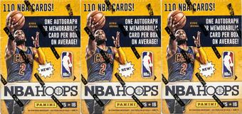 2015/16 Panini Hoops Basketball 10-Pack Box (Lot of 3)