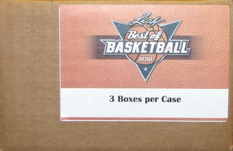 2015/16 Leaf Best Of Basketball Hobby 3-Box Case