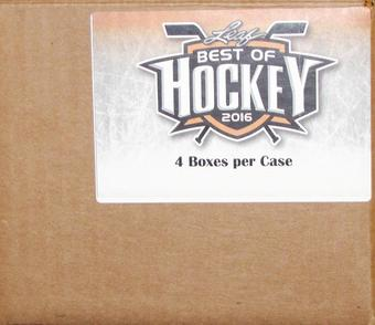 2015/16 Leaf Best Of Hockey Hobby 4-Box Case